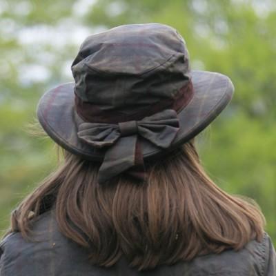 Imperméable d'équitation pour femme en coton enduit