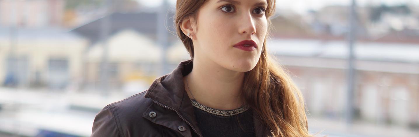 Veste enduite pour femme Huntex, veste de ville
