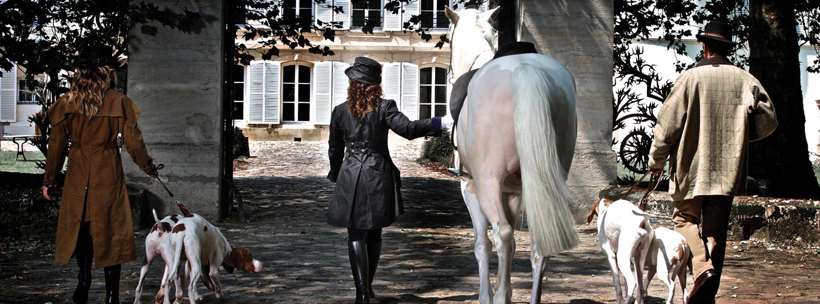 veste de chasse et equitation