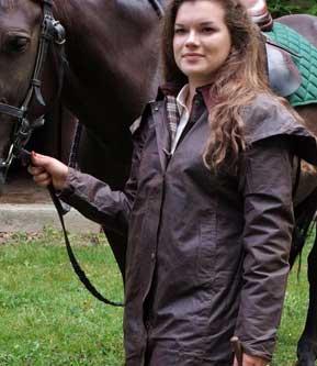 Manteau equitation pluie