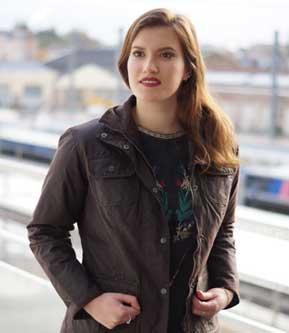 veste enduite femme